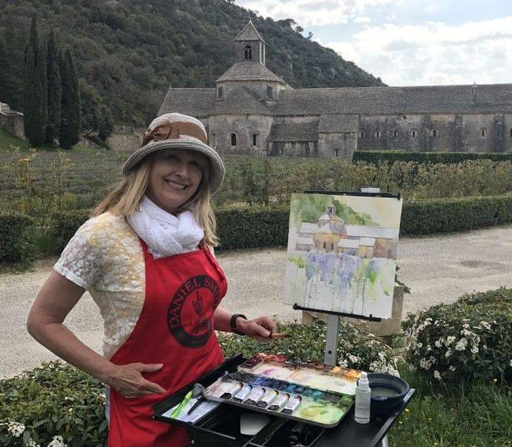 Cindy-at-the-Abbey-in-Provence