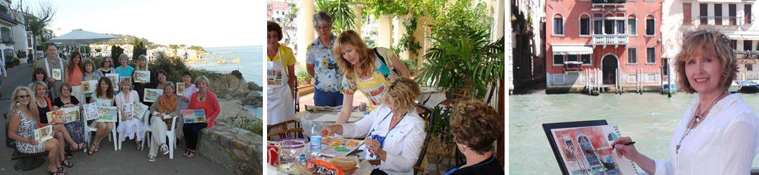 skill levels stunning personalized instruction, Cindy Briggs Watercolor Workshops