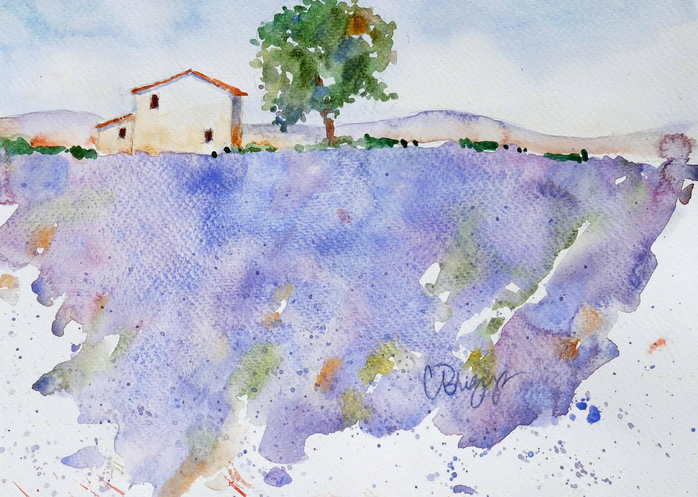 Plein Air Workshop - French Mediterranean Villages | Lavender in Provence