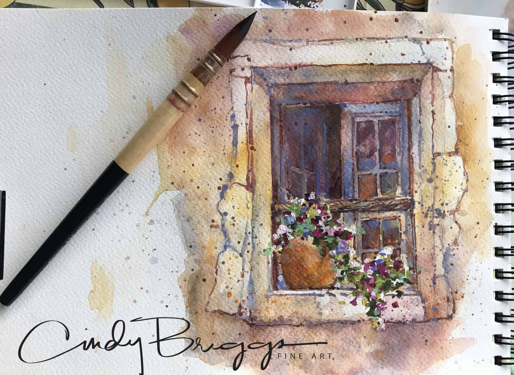My Favorite Watercolor Brush - Cindy Briggs Art