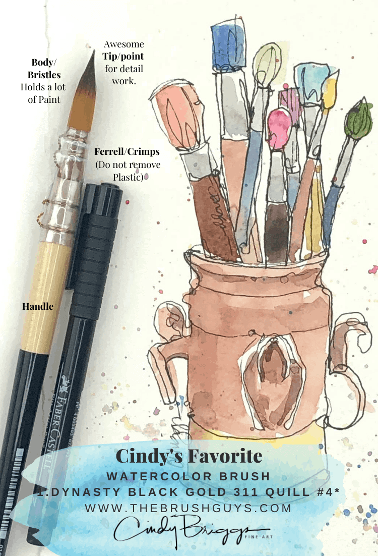 Favorite Watercolor Brush Cindy Briggs