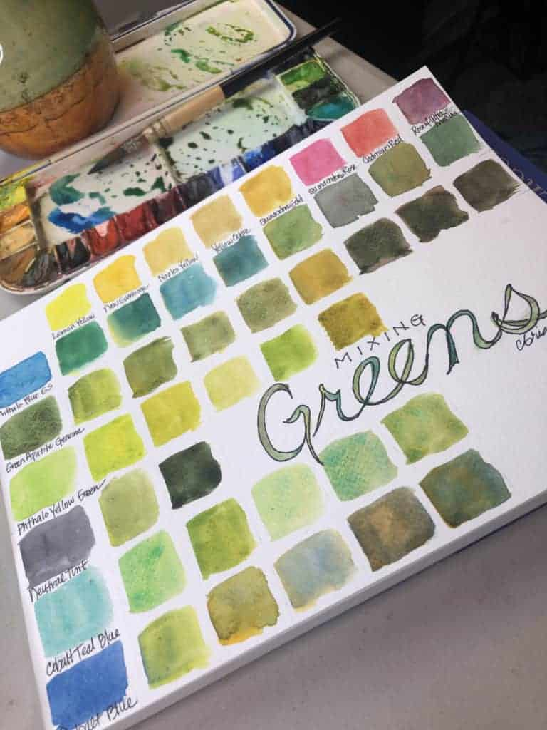Playing with Colors Greens