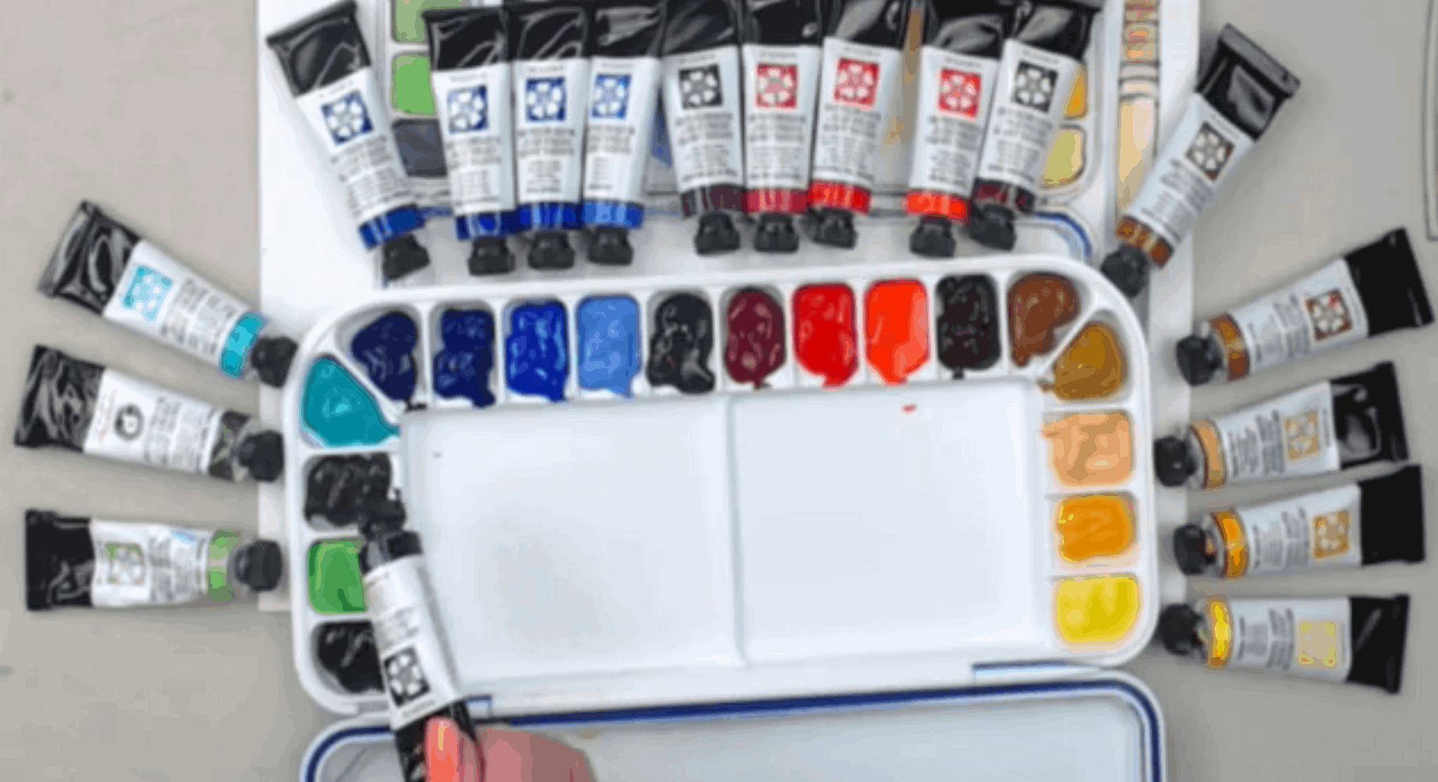 How to Set Up Your Watercolor Palette