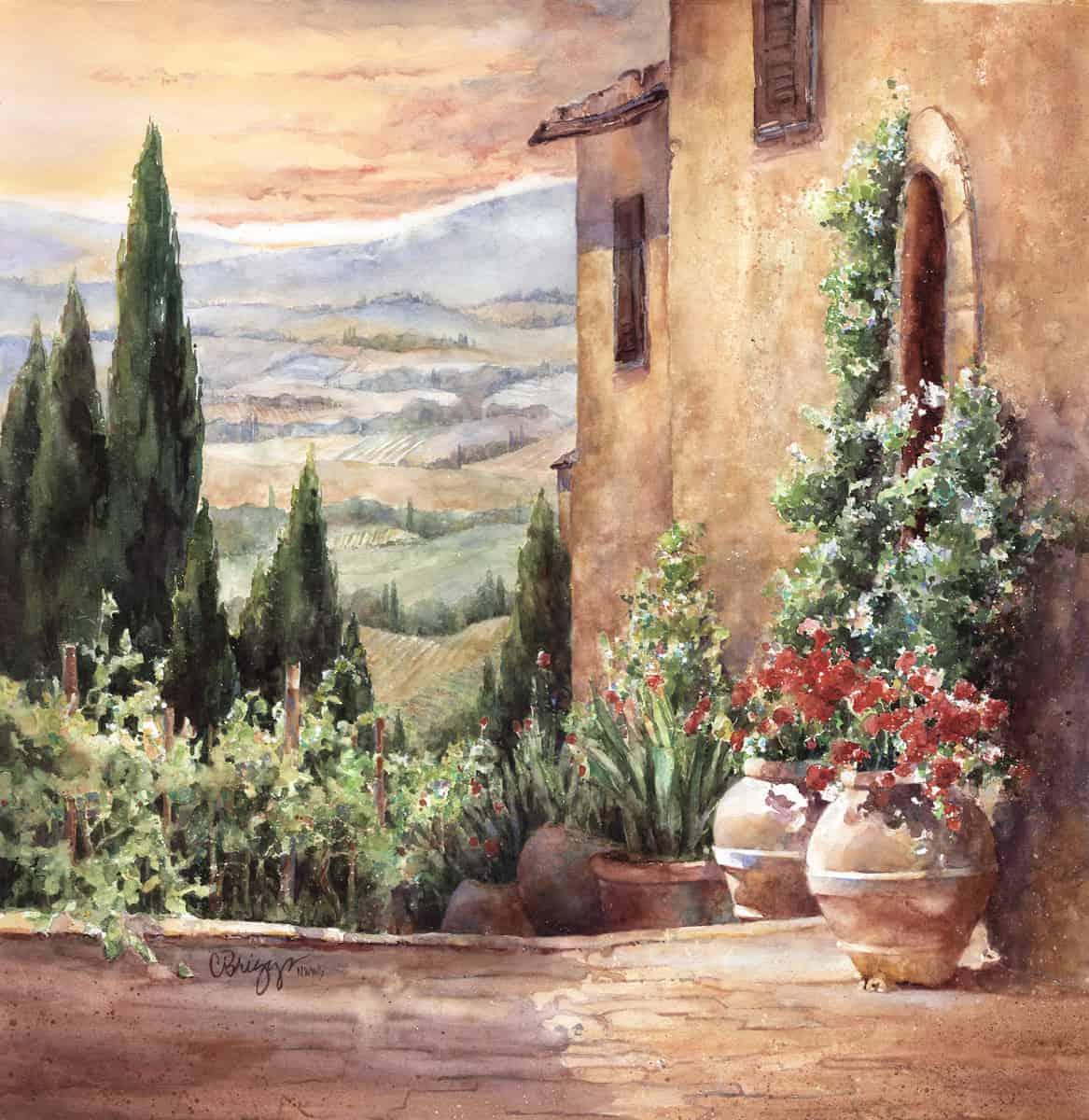CINDY BRIGGS - Toscano Terrazzo (Pienza, Italy)