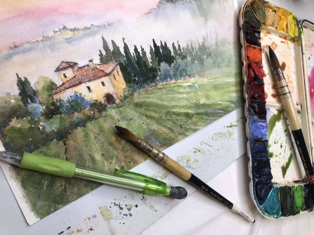 Paint Tuscany with Watercolors | Cindy Briggs Workshops | plein air