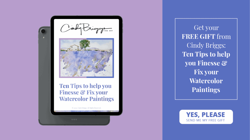 Ten Tips to help you Finesse Fix your Watercolor Paintings 01