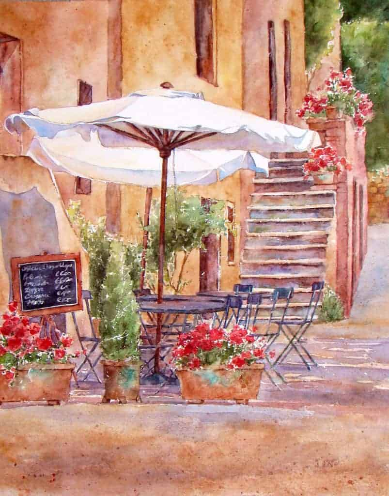 How to Paint Cityscapes Bagno Vignoni al Sole