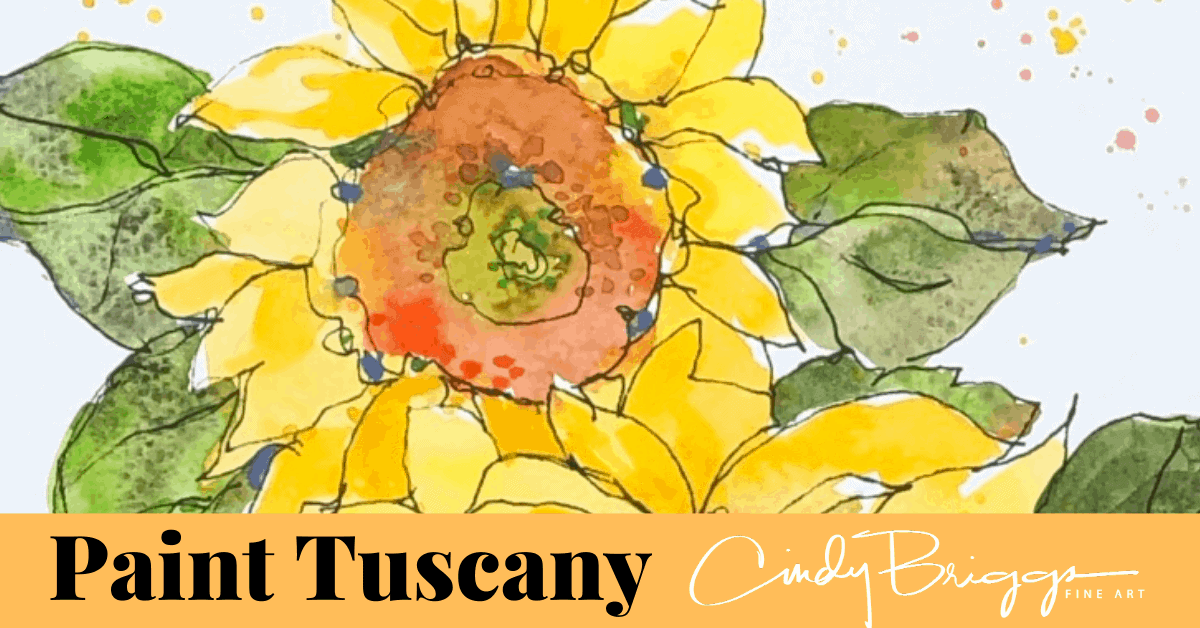 watercolor painting class tuscany