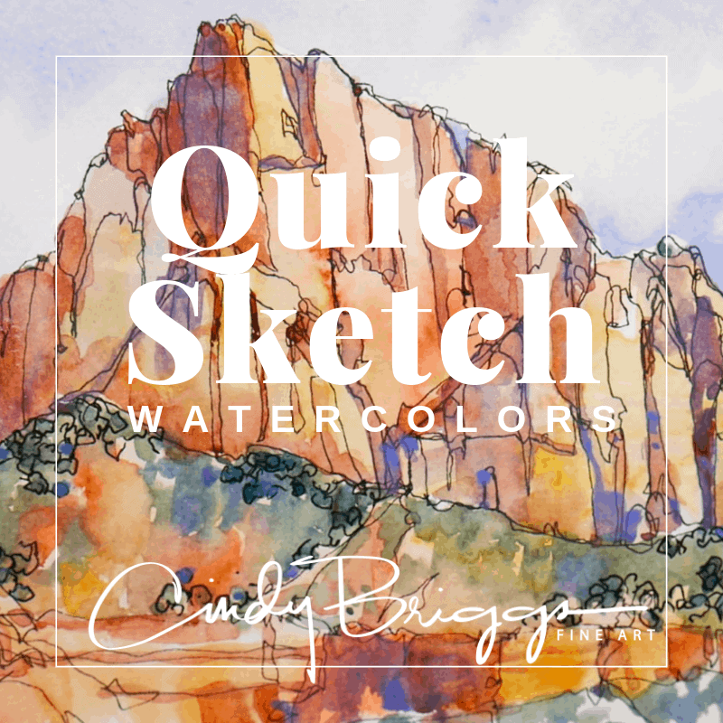 Quick Sketch Program Watercolor Online Workshops