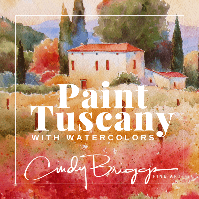 paint tuscany Watercolor Online Workshops