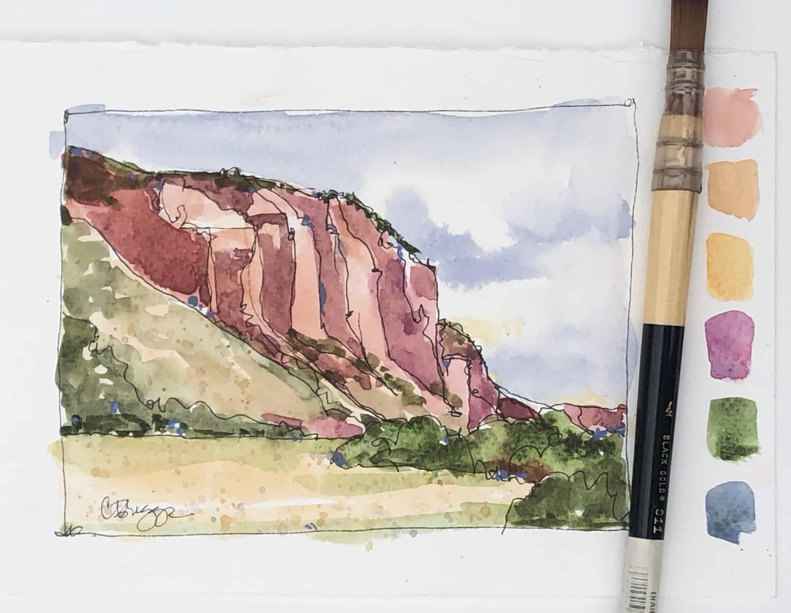 Near Coalville CBriggs Utah Quick Sketch