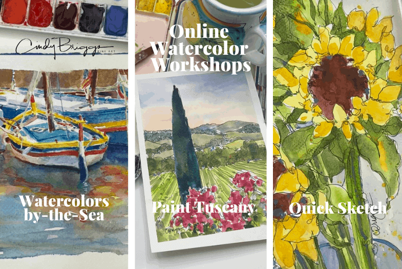 Cindy Briggs Online Watercolor Workshops