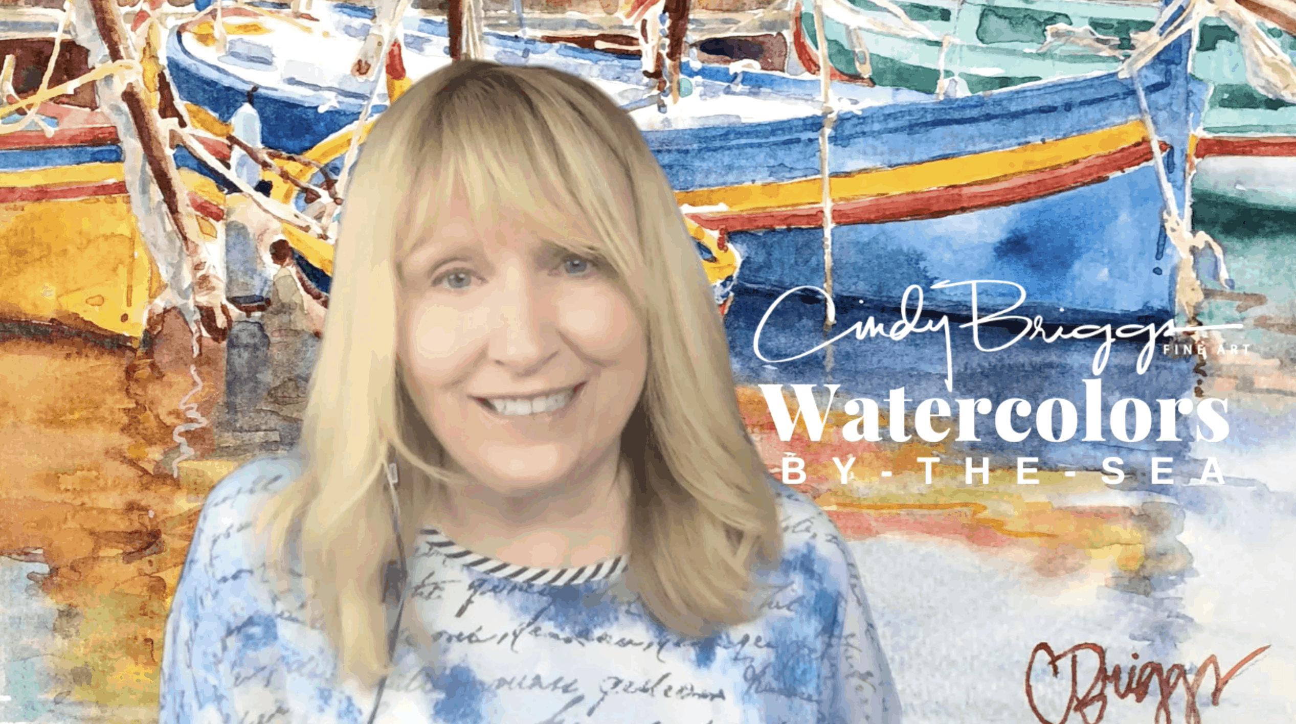 Cindy Watercolors by the sea