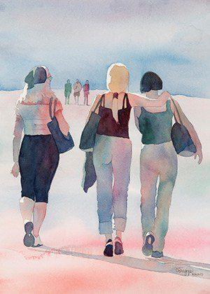 Watercolor Figures Utah 1