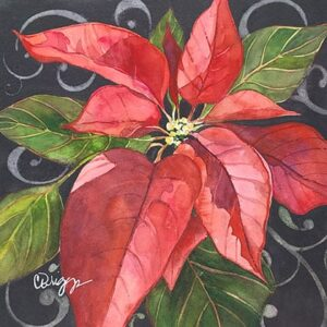 Watercolor Poinsettia Utah