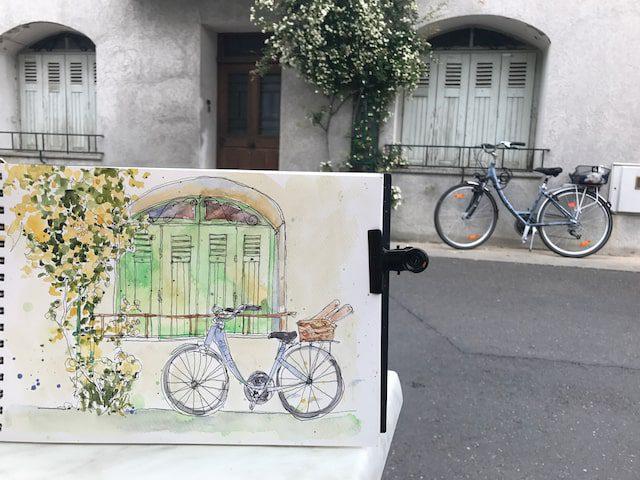Cindys Bicycle Sketch