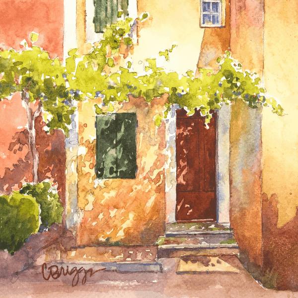 Sunlit watercolor image