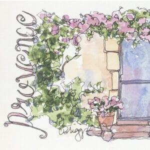 postcard provence spring